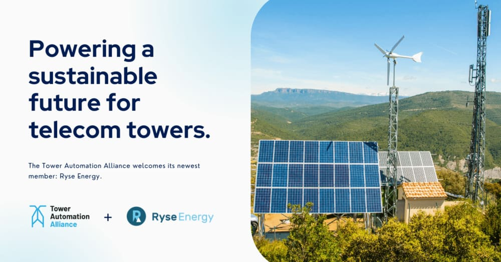 tower automation alliance - ryse energy joins the alliance