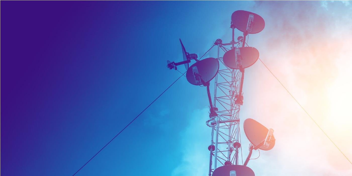 telecom tower with digital transformation